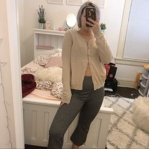 h&m button up cream sweater